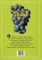 La Vigne - 4ème de couverture - Format classique