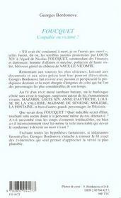 Foucquet - 4ème de couverture - Format classique