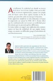 Le Cadre Economique Et Reglementaire Du Credit-Bail. Tome 1 - 4ème de couverture - Format classique