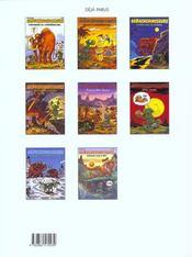 NAB ; les tribulations apeupréhistoriques de Nabuchodinosaure T.4 ; humo sapiens - 4ème de couverture - Format classique