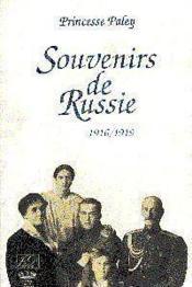 Souvenirs De Russie 1916/1918 - Couverture - Format classique