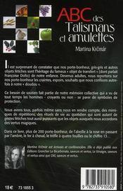 ABC des talismans et amulettes - 4ème de couverture - Format classique