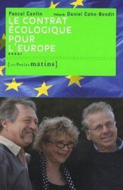 Le contrat écologique pour l'Europe - Couverture - Format classique