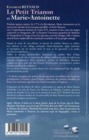 Le petit Trianon et Marie-Antoinette - 4ème de couverture - Format classique