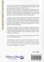 Rencontres t.1 ; droit talmudique et droit des nations - 4ème de couverture - Format classique
