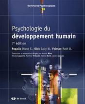Psychologie du développement humain (7e édition) - Couverture - Format classique