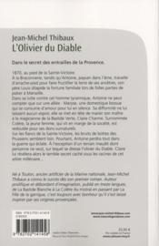 L'olivier du diable - 4ème de couverture - Format classique
