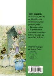 Tom chaton - 4ème de couverture - Format classique