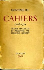 Cahiers. 1716-1755. - Couverture - Format classique