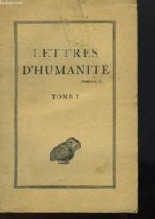 Lettres D'Humanite - Tome 1 - Couverture - Format classique