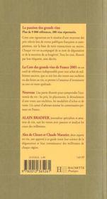 La Cote Des Grands Vins De France 2001 - 4ème de couverture - Format classique