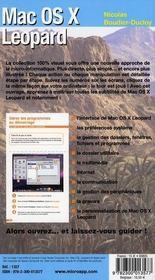 Mac OS X léopard - 4ème de couverture - Format classique