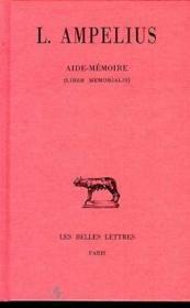 Aide memoire (liber memorialis) - Couverture - Format classique