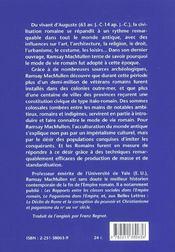 La romanisation à l'époque d'Auguste - 4ème de couverture - Format classique