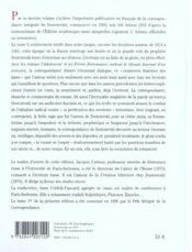 Correspondance t.3 - 4ème de couverture - Format classique