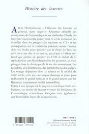 Histoire Des Insectes - 4ème de couverture - Format classique