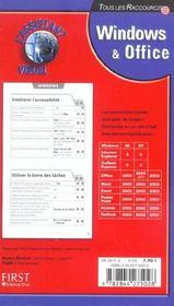 Windows Et Office ; 300 Raccourcis Clavier - 4ème de couverture - Format classique