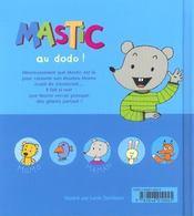 Mastic Au Dodo - 4ème de couverture - Format classique