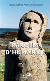 Paroles d'humanité - Couverture - Format classique