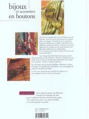 Bijoux Et Accessoires En Bouton Les Bases - 4ème de couverture - Format classique