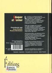 Éduquer et former - 4ème de couverture - Format classique