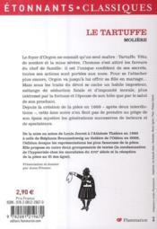 Le Tartuffe - 4ème de couverture - Format classique