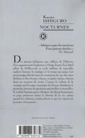 Nocturnes ; cinq nouvelles de musique au crépuscule - 4ème de couverture - Format classique