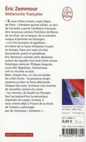 Mélancolie française - 4ème de couverture - Format classique