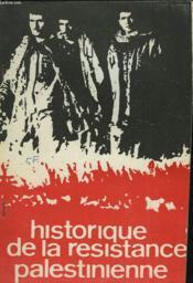 Histoire De La Resistance Palestinienne - Couverture - Format classique