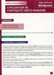 Civilisation de l'antiquité gréco-romaine - Intérieur - Format classique