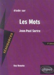 Etude Sur Les Mots Jean Paul Sartre 2e Edition - Intérieur - Format classique