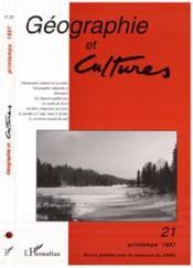 Revue Geographie Et Cultures N.21 - Couverture - Format classique