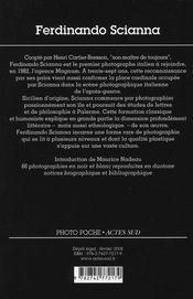 Ferdinando Scianna - 4ème de couverture - Format classique