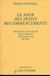 Le Jour Des Petits Recommencements - Couverture - Format classique