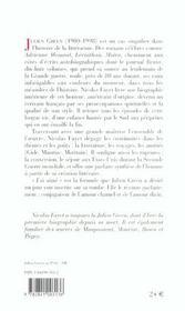 Julien green - 4ème de couverture - Format classique