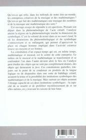 Mathematiques Et Musique - 4ème de couverture - Format classique