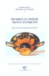 Musique Et Poesie Dans L'Antiquite - Intérieur - Format classique