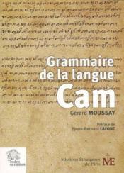 Grammaire de la langue cam - Couverture - Format classique