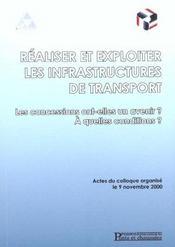 Realiser et exploiter les infrastructures de transport les concessions ont elles - Intérieur - Format classique