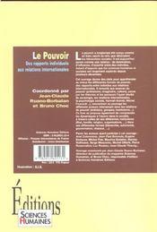 Le pouvoir - 4ème de couverture - Format classique