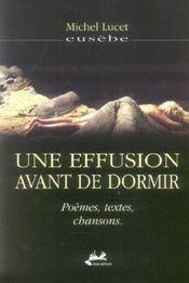 Une Effusion Avant De Dormir - Intérieur - Format classique