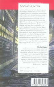 Le Casino Perdu ; Orages En Terre De France - 4ème de couverture - Format classique