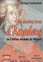 Les Derniers Jours D'Amadeus - Couverture - Format classique