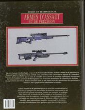 Armes D'Assaut Et De Precision - 4ème de couverture - Format classique