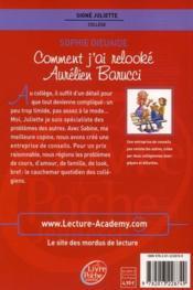 Signé Juliette T.1 ; comment j'ai relooké Aurélien Barucci - 4ème de couverture - Format classique