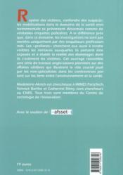 Sur la piste environnementale ; menaces sanitaires et mobilisations profanes - 4ème de couverture - Format classique