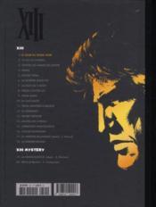 XIII T.1 ; le jour du soleil noir - 4ème de couverture - Format classique