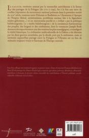 La Galicie au temps des Habsbourg (1772-1918) ; Histoire, société, cultures en contact - 4ème de couverture - Format classique