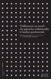 Vieillissement Au Travail : Approches Traditionnelles Et Psychosociale - Couverture - Format classique