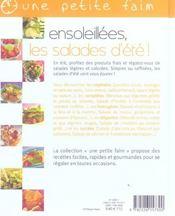 Ensoleillees, les salades d'ete ! - 4ème de couverture - Format classique